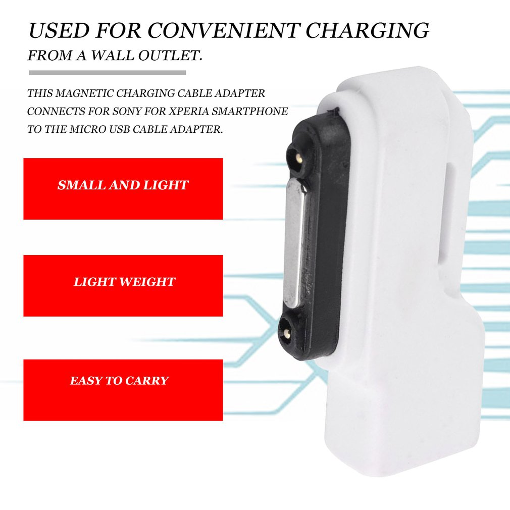 Micro USB To Magnetic Charging Charger Dock Adapter For Sony Xperia Z1/Z2/Z3 Portable Light Weight Convenient Carry