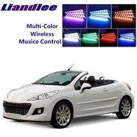 Liandlee luz ambiente interior automotivo para peugeot 207cc 2006 ~ 2014  luz ambiente rítmica
