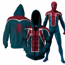 Newest Arrivals Spider-Man Far From Home hoodie 3D Print male oversized spiderman hoodies superman tracksuit sweatshirt jacket(China)