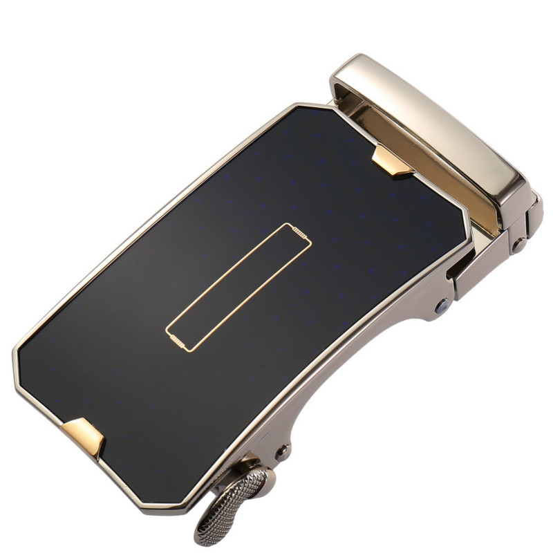 Fashion Men's Business Alloy Automatic Buckle Unique Men Plaque Belt Buckles 3.5cm Ratchet Men Apparel Accessories LY136-21861