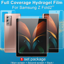 Imak 3 in 1 Set Soft Transparent Hydrogel Film for Samsung Galaxy Z Fold2 5G Screen Protector 3D Curved Full Cover