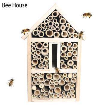 Pszczoła dom bambusowy drewno owad dom ula dla samotnych pszczół dom ogród dekoracji tanie i dobre opinie Bee House bamboo wood insect house