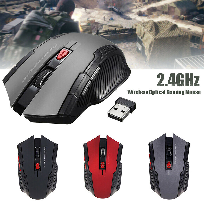Cool Gaming 1600DPI Wireless Mouse Ergonomic Optical Mice For Dell/Huawei/Lenovo PC Computer Mouse Office