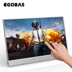EGOBAS 15.6 Portable Touchscreen 1080P FHD IPS Panel USB C HDMI Directly Connection Monitor Second Display for Gaming Working