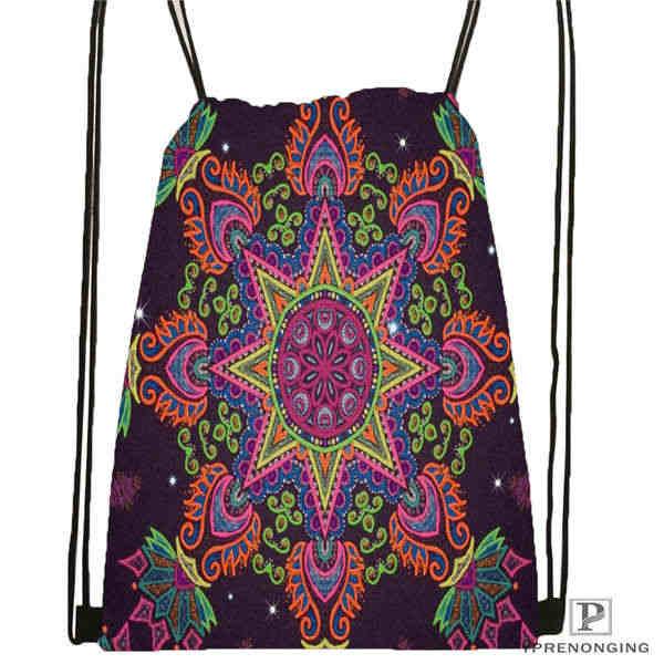 Bolso de mochila personalizado Mandala-Budista-@ 5 con cordón para hombre mujer lindo mochila para niños (parte trasera negra) x 31x40cm #20180611-03-144