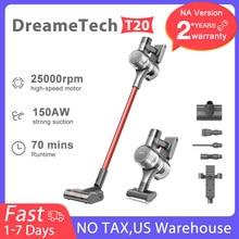 DreameTech T20 aspirateur sans fil tout-en-un écran HD 25Kpa aspiration puissante aspirateur bâton sans fil pour tapis sol dur