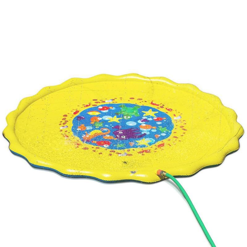 Lawn Play Water Pad Children PVC Spray Water Toy Mat Kids Summer Beach Game Inflatable Cushion U50F
