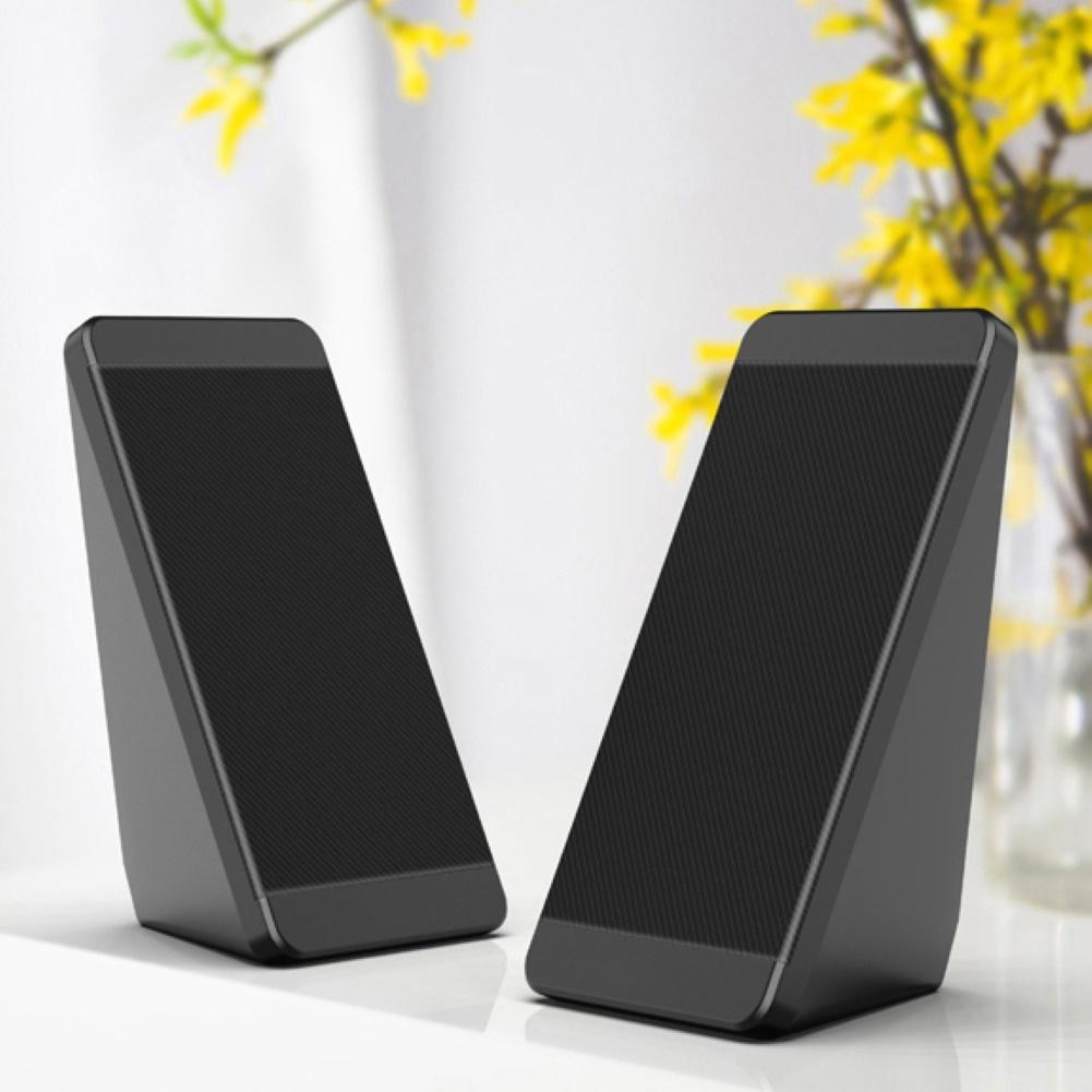1 Pair Convenient Universal USB 3.5mm Wired Audio Music Player Speakers for Desktop Computer Laptop Home Office
