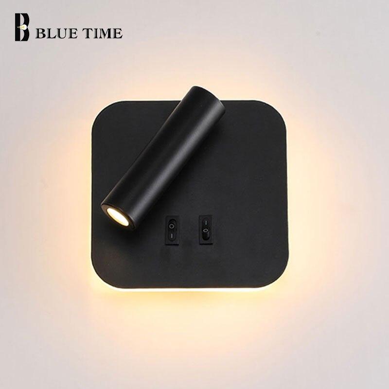 moderna lampada de parede led com interruptor controle 8 w arandela luz da parede para casa