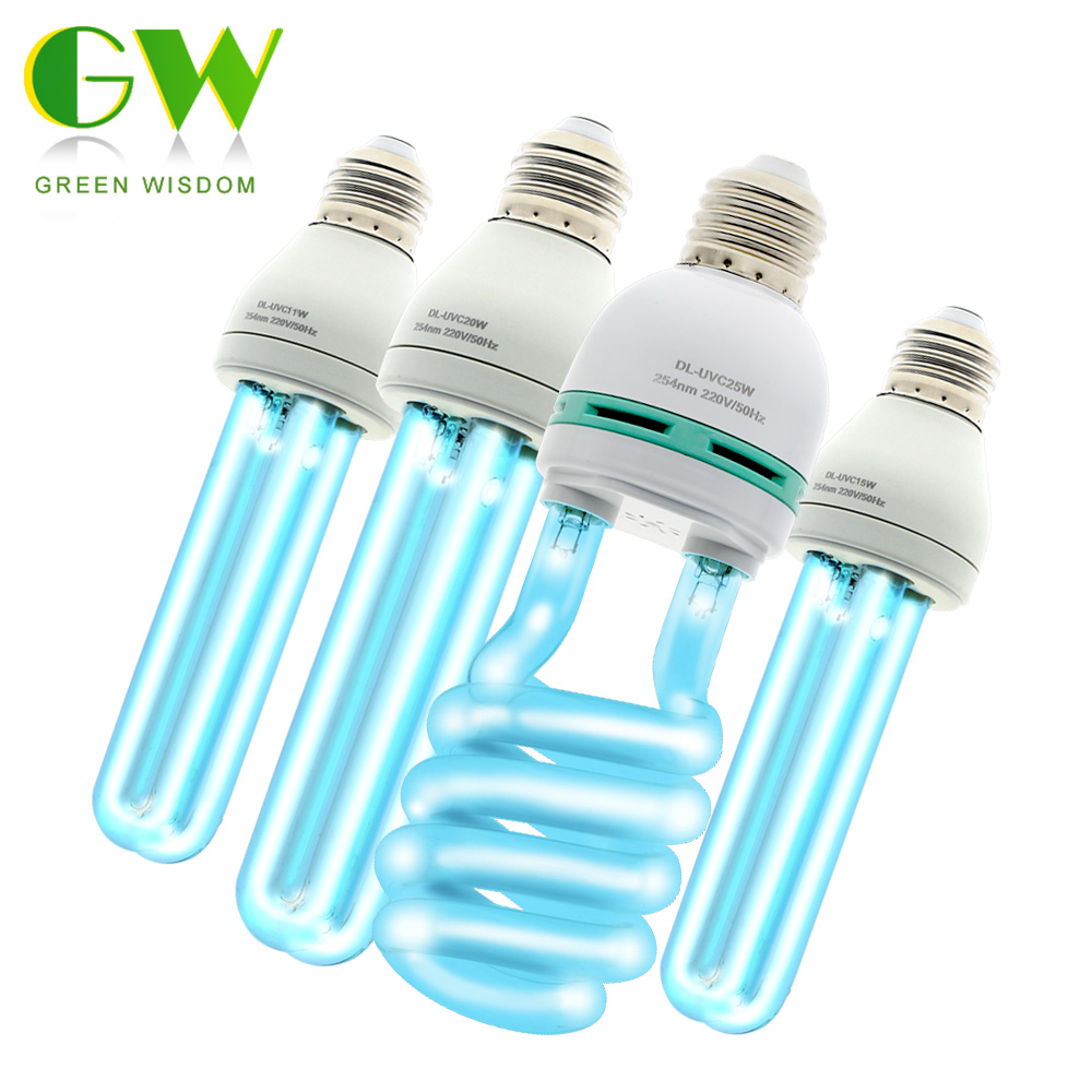 E27 Ultraviolet Bactericidal Lamp Bulb UVC Ozone Kill Dust Mite Quartz Disinfection Tube LED Germicidal Light UV Sterilizer 220V