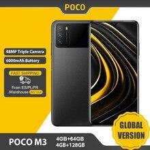 POCO-teléfono inteligente M3 versión Global, 4GB y 64GB/128GB, Snapdragon 662, pantalla de 6,53 pulgadas, batería de 6000mAh, cámara de 48MP