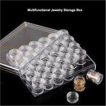 30 сетки пластиковые украшения для ногтей чехол хранения Коробка