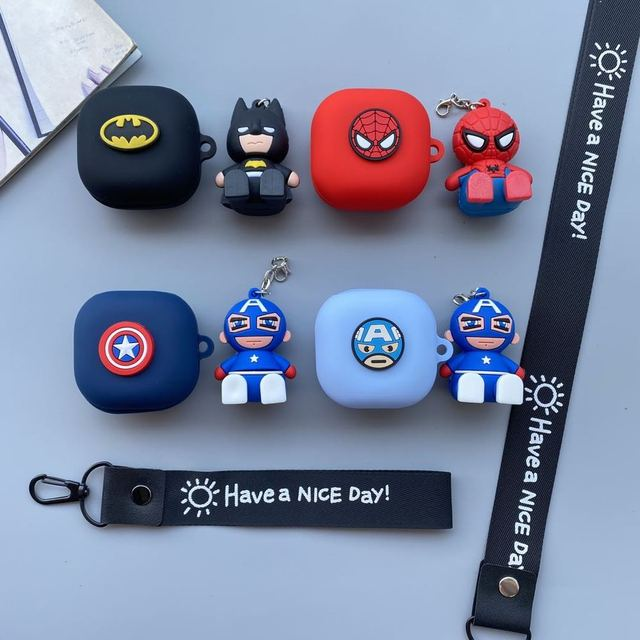 Cartoon Earphone Case for Samsung Galaxy Buds Live Wireless Headset Shockproof Silicone Protect Headphone Cover Accessory