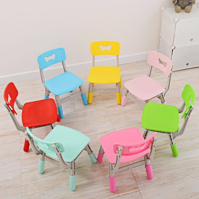 Kids Plastic Small Chair Detachable Baby Stool Portable Outdoor Child  Stool Plastic Foldable 2 Color Mini Sea