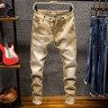 Новинка 2020, стильные мужские джинсы, модные повседневные Высококачественные Стрейчевые узкие джинсы, мужские прямые узкие джинсы, Брендовы...