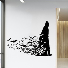 Comics Batman Wall Sticker vinyl Super Hero wall decal home decor kids room removable art mural welcome sign many languages wall sticker decal art vinyl mural office shop home wall decor welcome diy wallpaper removable bg07