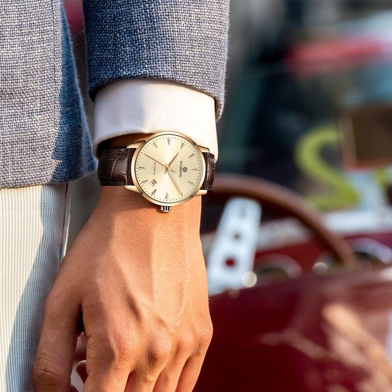 STARKING montre mécanique hommes mis5 Movt acier inoxydable montre bracelet saphir automatique auto vent hommes montre Relogio 3ATM AM0171 - 3