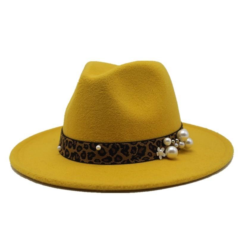 Chapeau Fedora de laine pour les femmes