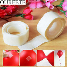 200 Dots Balloon Sticker Air Fixed Clip Number Letter Balon Glue Clamp Folder Tape Birthday Party Decoration for kids