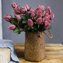 46cm Artificial Flowers Rose Pink 1PCS Non-woven Peony Flower Bouquet Valentine's Day Living Room Home Garden Wedding Decoration