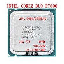 Intel Core 2 Duo Processor E7600 3M L2 cache, 3.06 GHz, TDP 65W,LGA755,Dual-Core Desktop CPU
