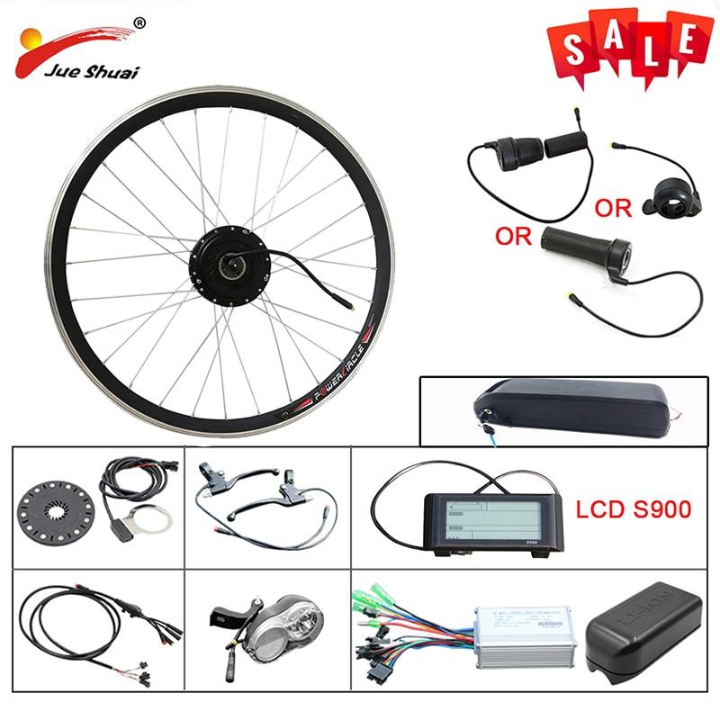 48V 1000W Rear Wheel Motor Electric Bike Brushless Gear Hub Motor Ebike Conversion Kit with LCD Display Free shipping