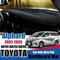 Солнцезащитный коврик для приборной панели, автомобильные аксессуары для Toyota Alphard Vellfire 10 20 30 2002 ~ 2020 AH10 AH20 AH30, Противоскользящий коврик, коври...