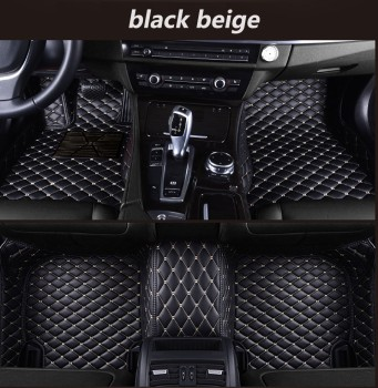 Leather Custom Auto car floor Foot mat For bmw f10 x5 e70 e53 x4 f11 x3 e83 x1 f48 e90 x6 e71 f34 e70 e30 waterproof accessories image