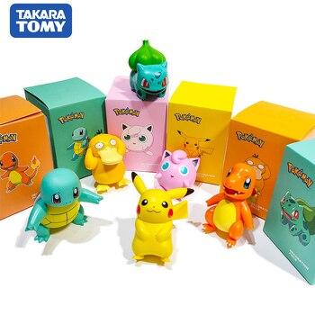 POKEMON Charmander Cleffa Pikachu Bulbasaur Squirtle Psyduck Pocket Monster Poké Model Action Figure One Piece Toy For Kids gift 1