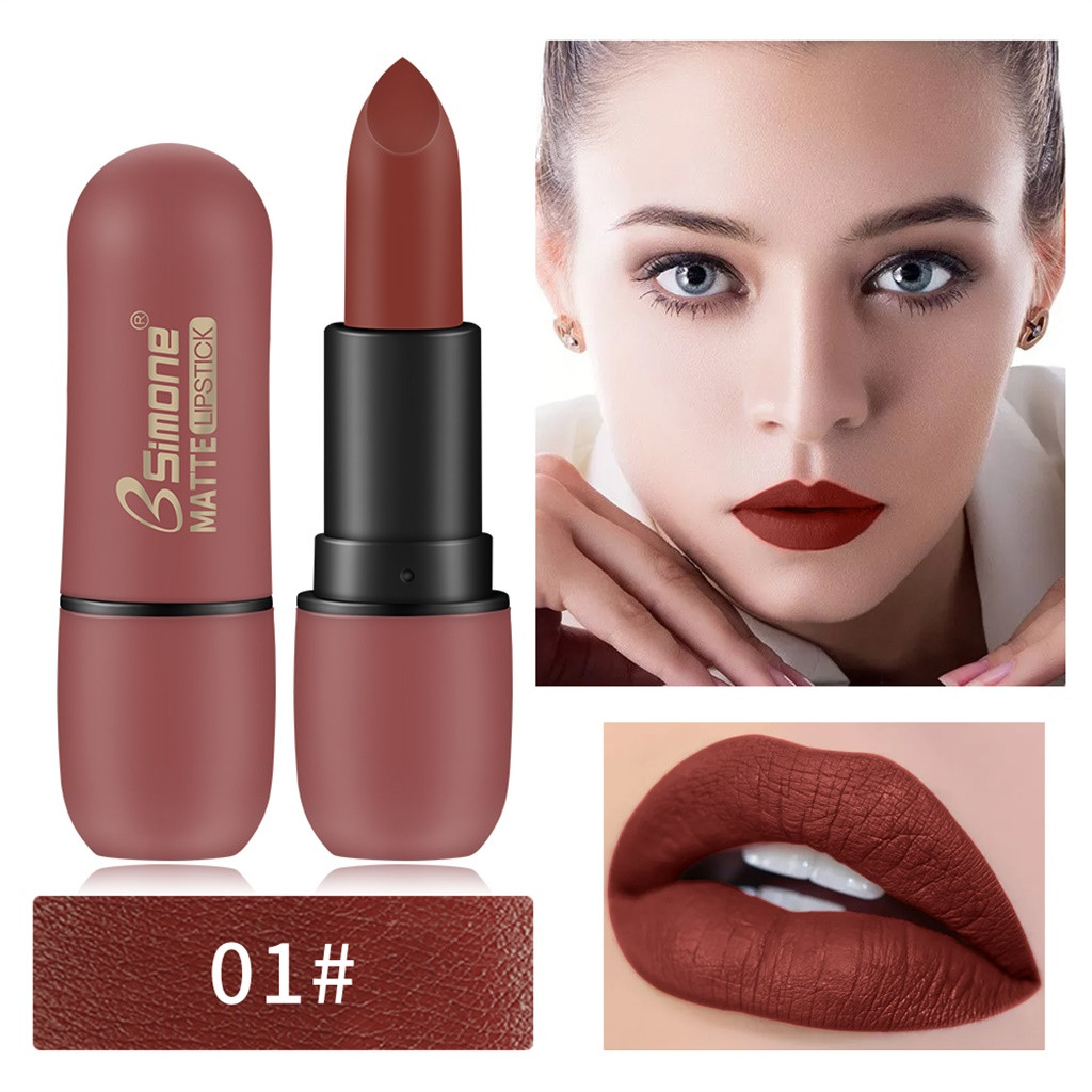 <font><b>MISS</b></font> <font><b>ROSE</b></font> 8 Colors <font><b>Matte</b></font> <font><b>Lipstick</b></font> <font><b>Set</b></font> Waterproof Long Lasting Lip Gloss Nude Velvet Pigment Cute RED Women Fashion Lip Makeup image