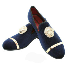 Original Men Genuine Leather Mens Metallic Textured Slip-on Glitter Loafers Shoes