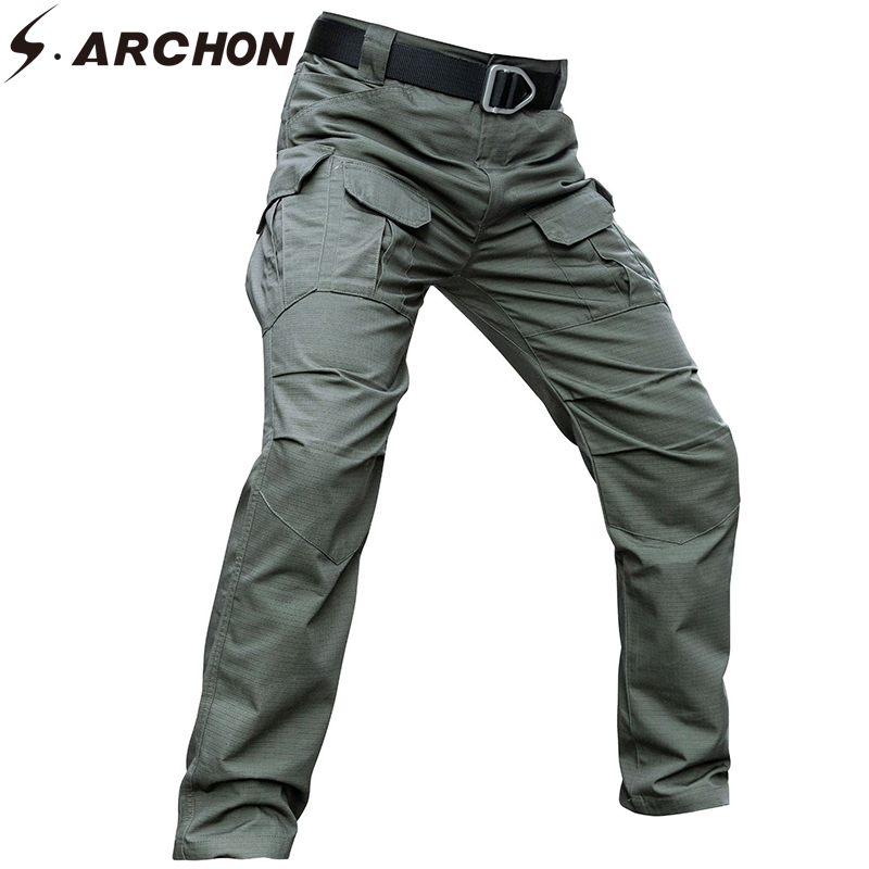 S.ARCHON Tactical Pants Men Camouflage Army Military Trousers Cargo Pants Casual Ripstop Strech Streetwear Combat Dropshipping