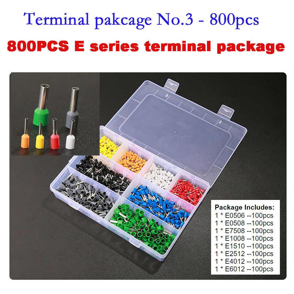 Conjunto de terminales 800 piezas conector de Terminal de engarzado aislante Cable aislado terminales de extremo Cable conector de terminales de alambre