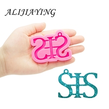 Shine Inside Resin Mold Letter SIS/DAD/BRO Keychain Silicone Moulds DIY for Epoxy Resin