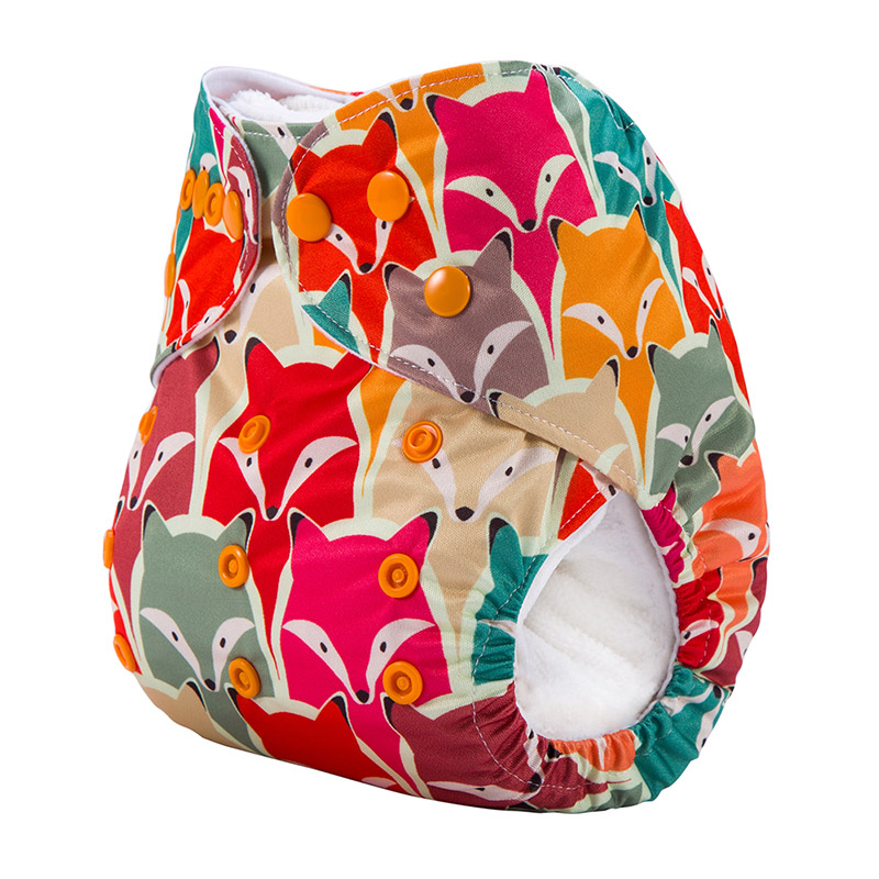 100pcs/lot DY Series Organic Fabric Pants Baby Diaper Without Insert Suit 3-15KG And You Can Choose A Suit