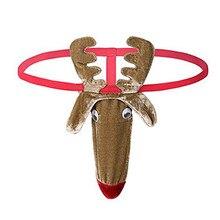 sexy thong men animal lingerie porno Christmas Gift Reindeer G-String Mankini Thong Underwear d91016