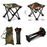 Silla plegable portátil de alta calidad, para viajes al aire libre, pesca, Camping, Picnic, playa, taburete