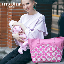 Single shoulder inclined multi-functional large-capacity printed mothers and babies waiting bag leisure bag bill kiefer faith and waiting