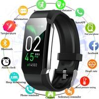 Sport Smart Band Körper Thermometer Smart Armband Uhr Männer Frauen Blutdruck Herz Rate Monitor Fitness Armband Wasserdicht