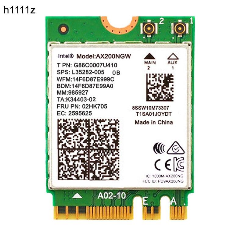 Беспроводной двухдиапазонный 2400 Мбит/с WiFi 6 для Intel AX200 NGFF M.2 Bluetooth 5,1 Wifi карта AX200NGW Wifi6 Адаптер 2,4G/5Ghz 802.11ac/ax