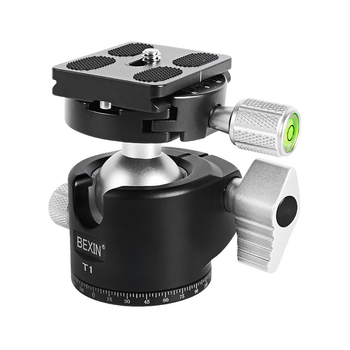 CNC Machining Notch Ball Head Mini Ballhead Low Center of Gravity for Tripod Monopod for Canon Nikon Sony DSLR