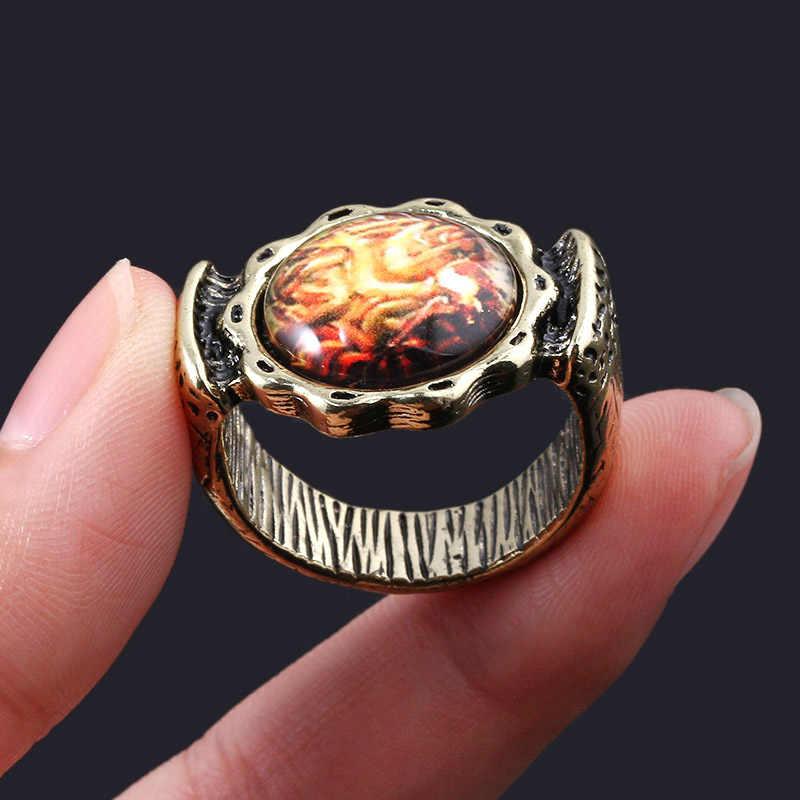 SG Vintage jeu âmes sombres hommes anneau dévoreur de dieux Aldrich saphir anneaux Cosplay bijoux femmes Fans cadeau