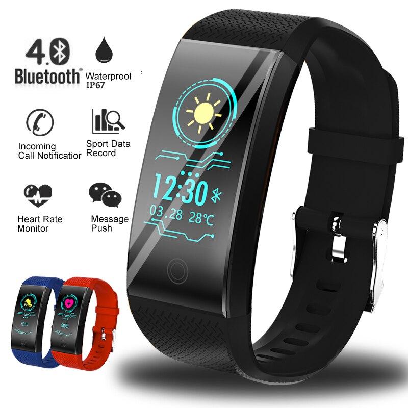 Smart armband IP67 wasserdichte smartwatch herz rate monitor mehrere sport modell fitness tracker mann frauen tragbar smart Band