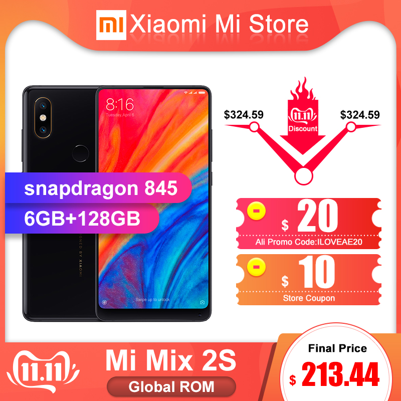 Global ROM Xiaomi Mi Mix 2S 6GB 128GB Mobile Phone Snapdragon 845 5.99