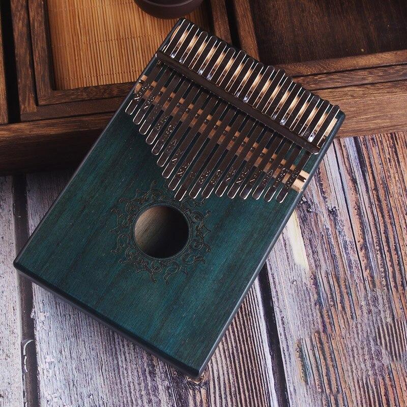 17 Keys Kalimba African Solid Mahogany Thumb Piano 17 Keys Solid Wood Kalimba Musical Instrument High-Quality Wood Finger Piano