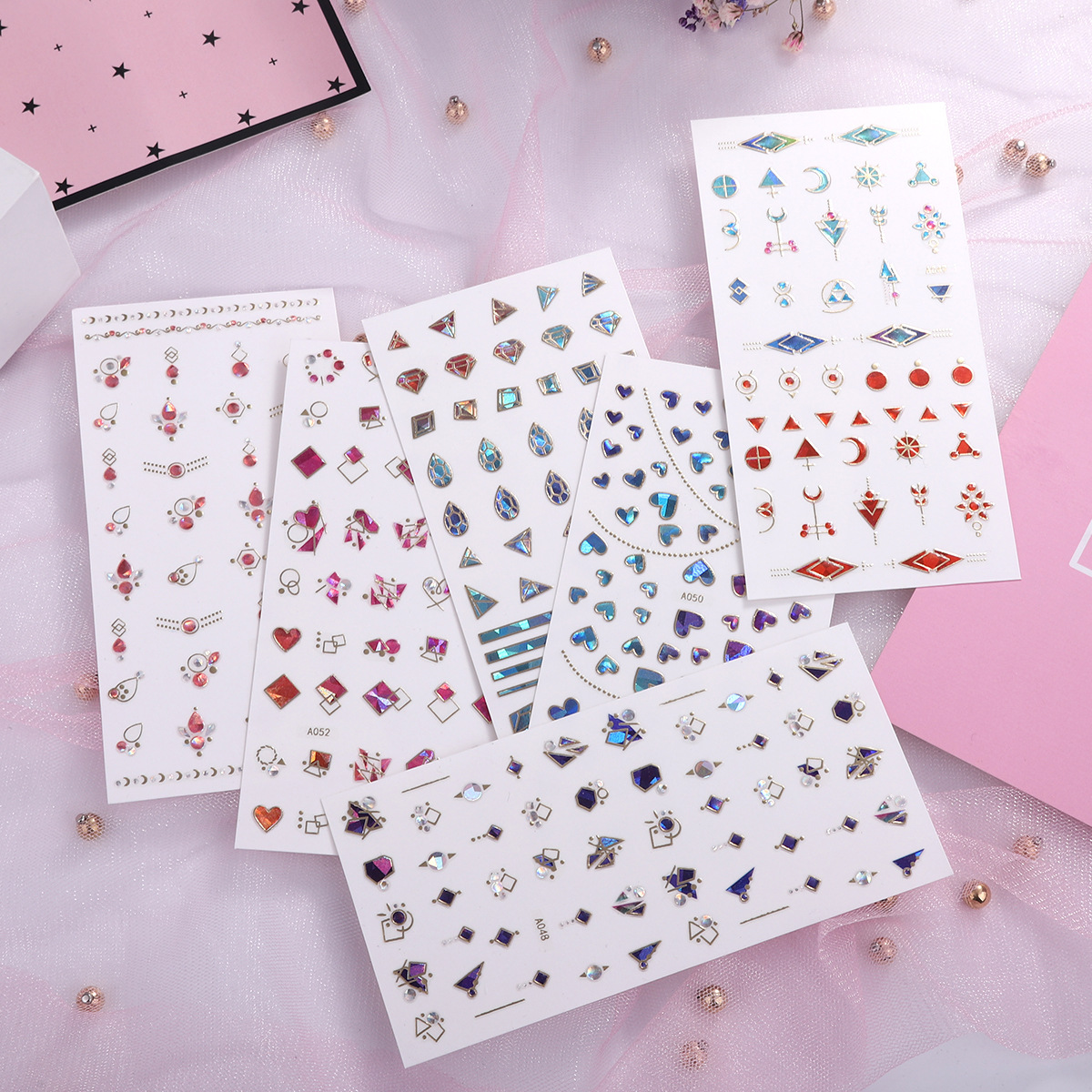 Nail Ornament Nail Sticker Japanese-style Online Celebrity Hot Selling Manicure Stickers Crystal Nail Decals Manicure Stickers 3