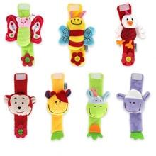 Fashion Cartoon Animal Baby Rattles Infant Toy Wrist Strap Children Newborn Soft Handbells Plush Wristband