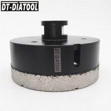 DT-DIATOOL 1pc M14 Dia 100mm Dry Vacuum Brazed Diamond Drilling Core Bit Ceramic Tile Hole Saw Granite Marble Stone Drill Bit ayhf 100mm e shank drilling bit bimetal hole saw