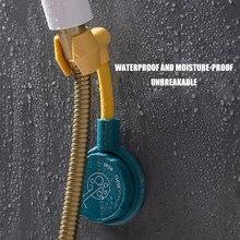 1 pçs 360 graus rotativo banheiro punch-free chuveiro suporte de cabeça de sucção ajustável suporte de montagem de chuveiro suporte de bico cabide