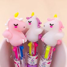 Lovely Unicorn Power 4 Colors Chunky Ballpoint Pen School Office Supply Gift Stationery Papelaria Escolar 6 colorssumikko gurashi ballpoint pen school office supply gift stationery papelaria escolar